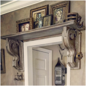 Corbels Used As Shelf Brackets A Fireplace Mantle Added To Simple Wall Old Beams On Kitchen Ceiling Window Frames Propped